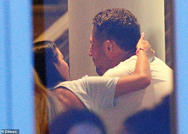 Date night?The former Rabbitohs star, 31, got flirty with a mystery brunette at a bar in Coogee on Sunday night
