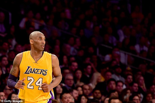 Legend of the game: Kobe spent his 20-year career with the LA Lakers, winning five NBA championships and 18 All-Star titles before retiring in 2016. He is pictured on the court in 2013
