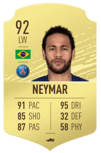 Neymar-fut-base-card