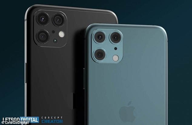 iPhone 12 Pro Max (left) and iPhone Pro (right) respectively have 6.7-inch and 6.1-inch OLED screens, according to theLetsGoDigital report