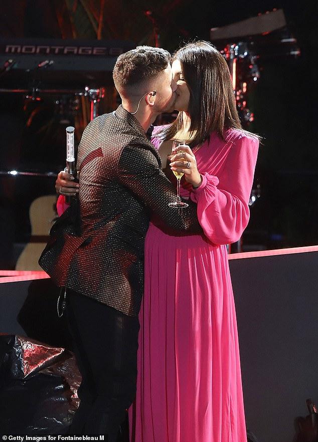 Cheers to us: Priyanka Chopra planted a kiss on her husband Nick Jonas