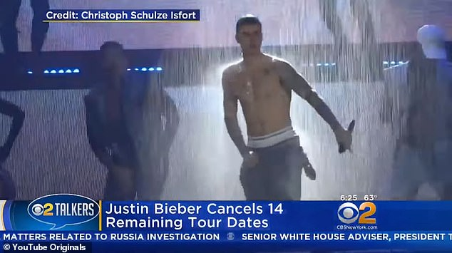 All too much: Bieber canceled the remaining dates of his Purpose tour dates in July of 2017 for 'unforeseen circumstances'