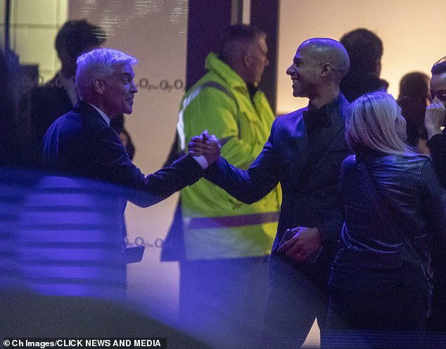 Hey there! Despite ongoing allegations of a civil war behind the scenes at ITV, Phillip still fondly greeted many of his colleagues including Marvin Humes