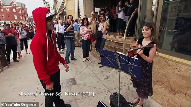 Never Say Never: In Justin Bieber's critically acclaimed 2011 documentary, the singer also paid a visit to the iconic steps and interacted with a young female performer