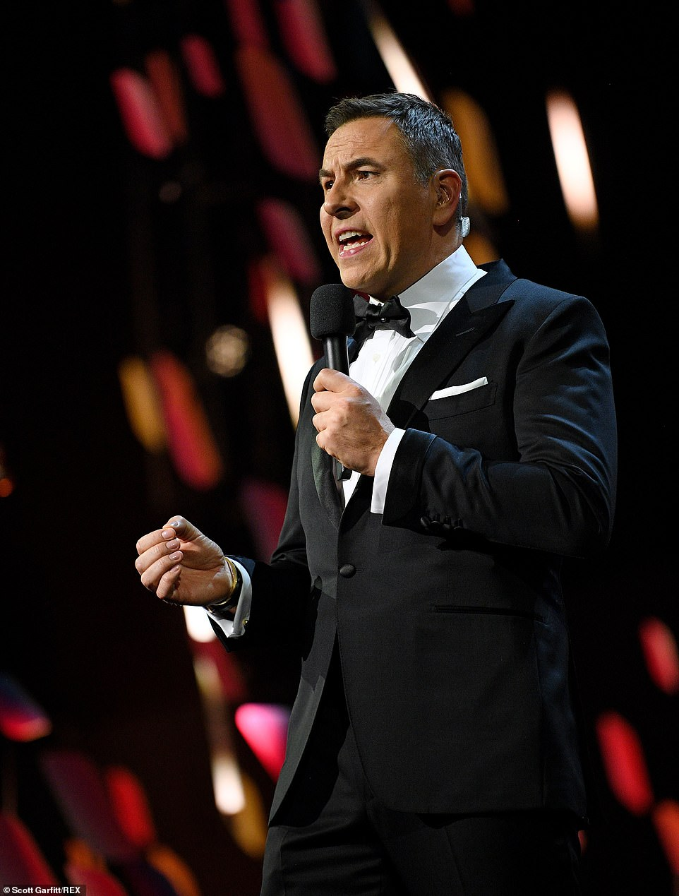 He finished the show by saying: 'Up next is the news. And the headlines are David Walliams sacked from the NTAs!'