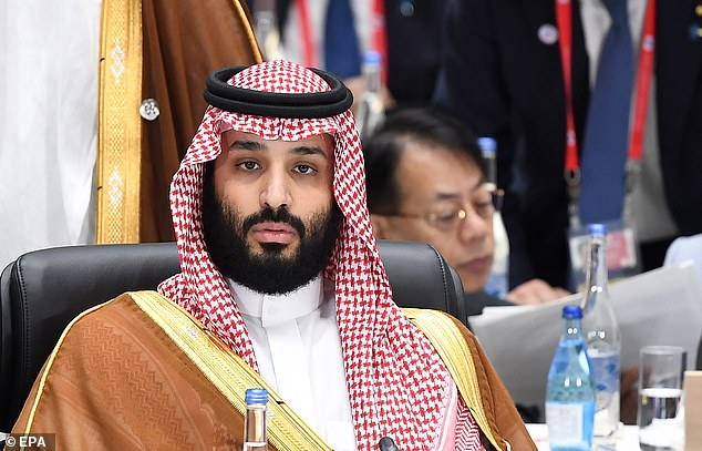 News surfaced last week that Bezos' iPhone X was hacked in 2018 after he received a malicious WhatsApp message from the crown prince of Saudi Arabia (pictured), months before the National Enquirer exposed his affair. Within hours of the receiving the message, a large amount of data from Bezos' iPhone was extracted
