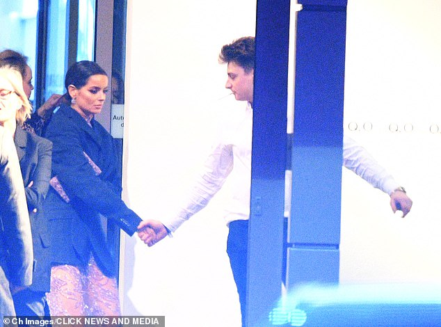 A helping hand:Maura meanwhile, who is dating her Love Island 2019 co-star Curtis Pritchard, was holding hands with a male pal who was stepping out for a cigarette