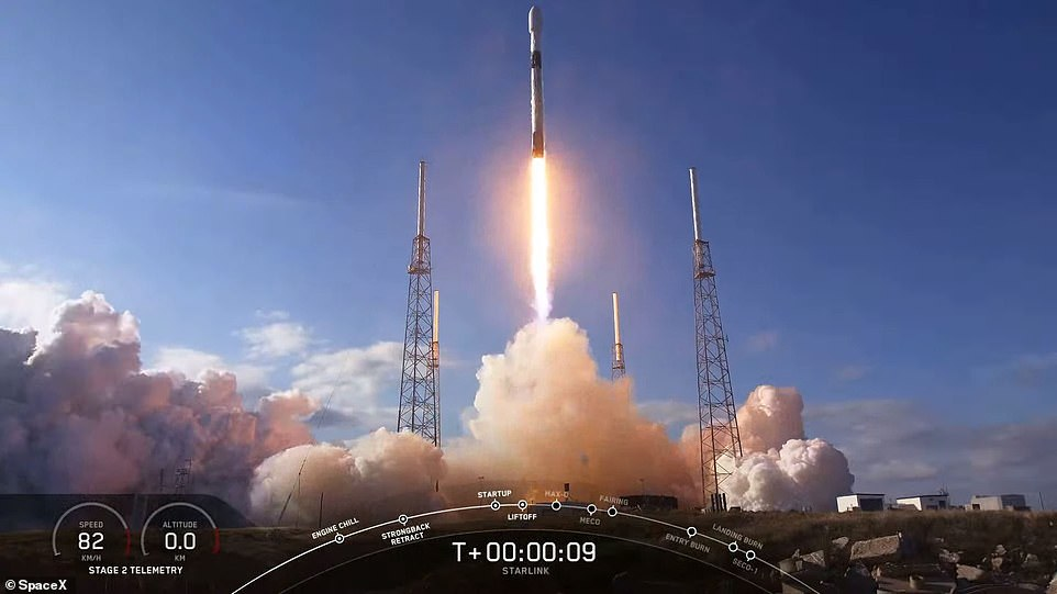 The Falcon 9 rocketsoared into the sky and rapidly left Earth's atmosphere, loaded with around a million pounds of thrust provided by its kerosene rocket fuel