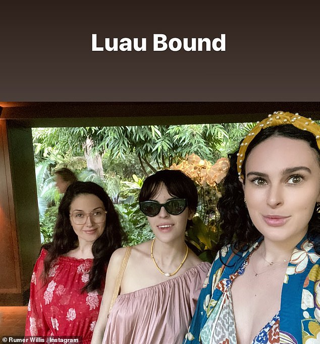 Fun time together! The lady's enjoyed a luau while away in Hawaii