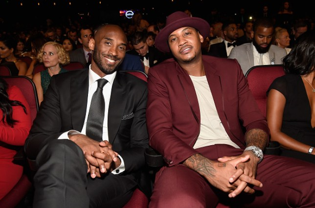 Carmelo Anthony (R) was a close friend of Kobe Bryant's