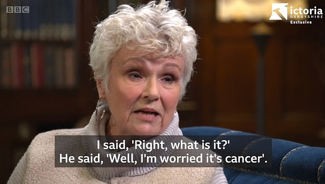 Diagnosis:  Dame Julie Walters revealed she had stage three bowel cancer - but has now been given the all clear following chemotherapy