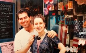 Sarah Munn and David Swain in London in 1989