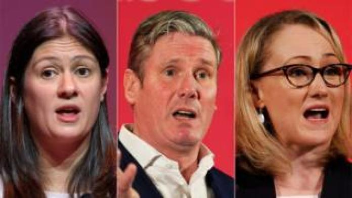 Labour hopefuls Lisa Nandy, Sir Keir Starmer, and Rebecca Long-Bailey