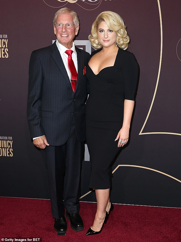 Accident: Meghan Trainor's father Gary is currently in the hospital after getting hit by a car in what appears to be a hit and run incident. The pair were pictured together in 2018