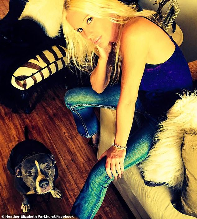 Ruff situation:Playboy model Heather Elizabeth Parkhurst almost lost one of her arms when her two pitbulls attacked her at home in a frightening incident over the weekend