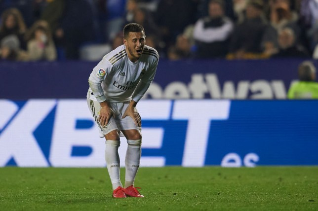 Eden Hazard is a major doubt for Real Madrid's crunch Champions League tie with Manchester City on Wednesday after hobbling off injured against Levante on Saturday night.