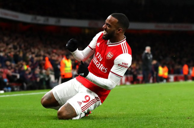 Alexandre Lacazette broke his nine-game goal drought with a late strike against Newcastle