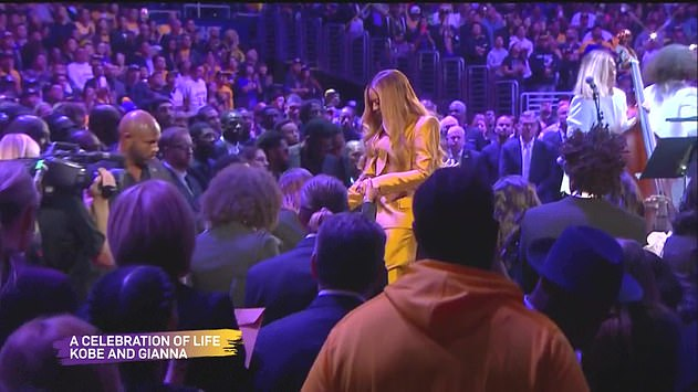 Farewell: Beyonce was a personal friend of Kobe'