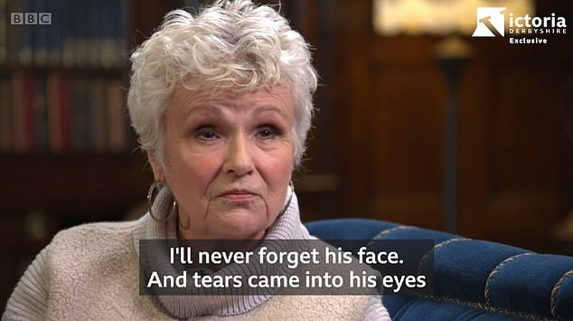 Emotional: The star said 'tears came into' her husband's eyes after she told him her diagnosis