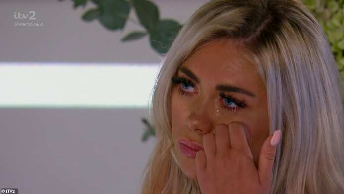 Reciting a speech to the Scottish blonde at the Love Island Prom, the hunky contestant said through tears: 'You said we should say it when it feels right... Well, Paigey, I love you'