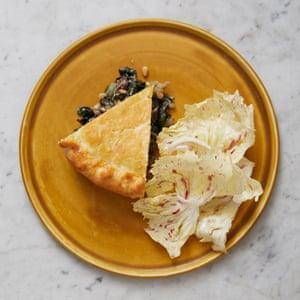 Merlin Labron-Johnson's swiss chard and pine nut tart.