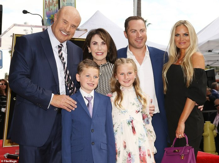 Family: Dr. Phil and Robin with their son Jay, his wifeErica and their two children London and Avery