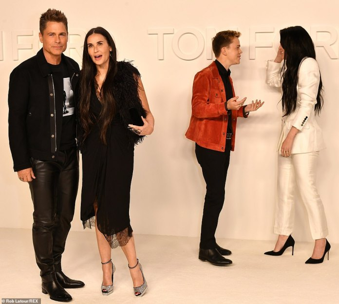 Celebrity offspring: Rob Lowe [L] and Demi Moore [2L] brought their respective kids John Owen Lowe and Rumer Willis to the A-list outing
