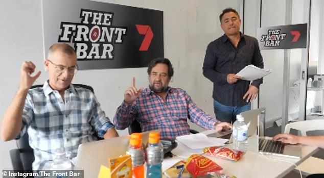Decision: The Front Bar confirmed the news on Saturday with a hilarious video on their official Instagram page of the current hosts in a room deicing on their new co-star