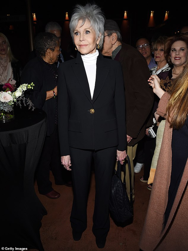 When you got it: The 82-year-old slipped her still enviably trim figure into a fitted black suit and swung by Hollywood's Egyptian Theatre for the event