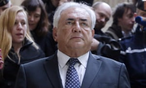 Former IMF chief Dominique Strauss-Kahn leaving Paris courthouse