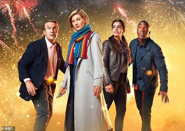 Co-stars: Time travellers Bradley Walsh, Jodie Whittaker, Mandip Gill and Tosin Cole currently feature in the show's twelfth series