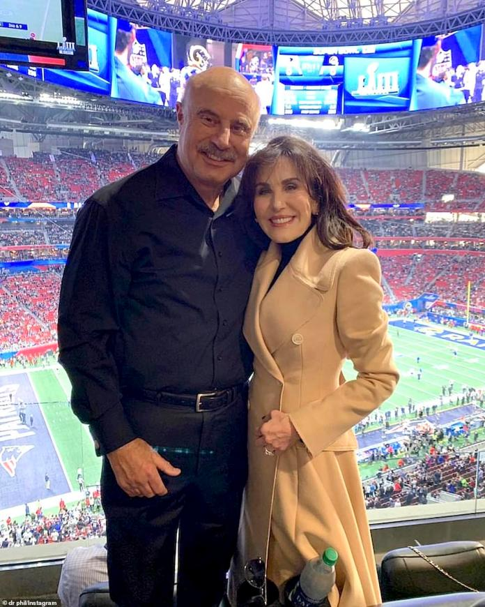 Power couple: Dr. Phil with his wife of over 40 years, lifestyle guru and podcast host Robin McGraw, seen here in a recent Instagram snap. She serves as an integral part of the show