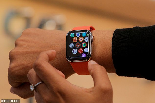 Consumers may see the new technology in the Apple Watch Series 7, which is also said to have an improved battery, broader support for LTE and WiFi 6. Apple could also completely remodel the next-gen device with a 'fresh design', built-in apps and improved Siri capabilities (stock)