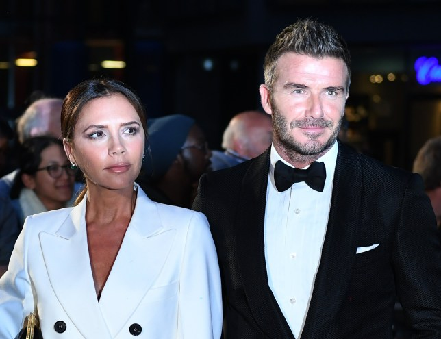Mandatory Credit: Photo by FACUNDO ARRIZABALAGA/EPA-EFE/REX (10378507h) British former soccer player David Beckham (R) and his wife, British fashion designer Victoria Beckham arrive for the GQ Men Of The Year Awards 2019 ceremony in London, Britain, 03 September 2019. The awards are presented by international monthly men's magazine GQ. GQ Men of the Year Awards 2019, London, United Kingdom - 03 Sep 2019