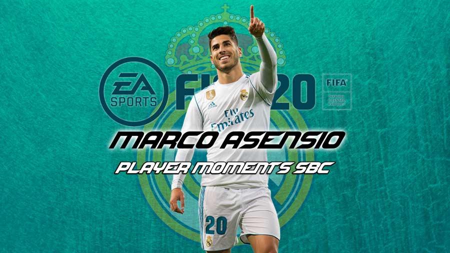 asensio player moments sbc fifa 20