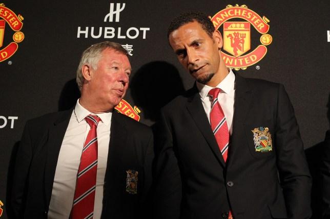 Manchester United legends Sir Alex Ferguson and Rio Ferdinand