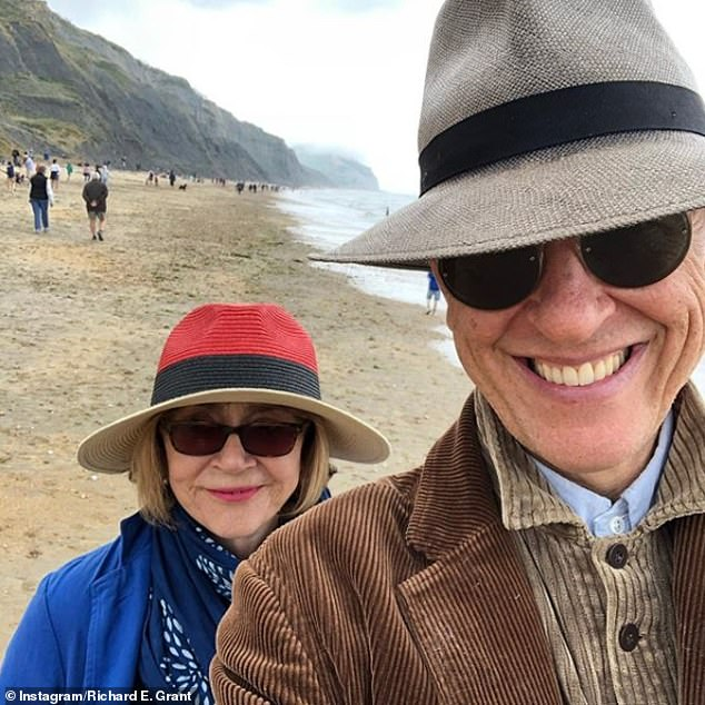 A change of heart: Richard has previously admitted he had not considered getting married until he met his now wife (pictured together in 2019)