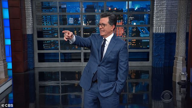 Stephen Colbert also recorded his show Thursday without a studio audience. Colbert taped a rehearsal from Ed Sullivan Theater in New York where the show is produced