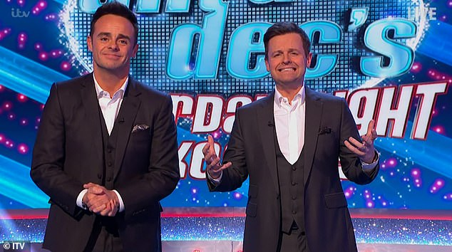 Carrying on as normal: Ant and Dec's Saturday Night Takeaway continued to host a 200-strong live studio audience over the weekend
