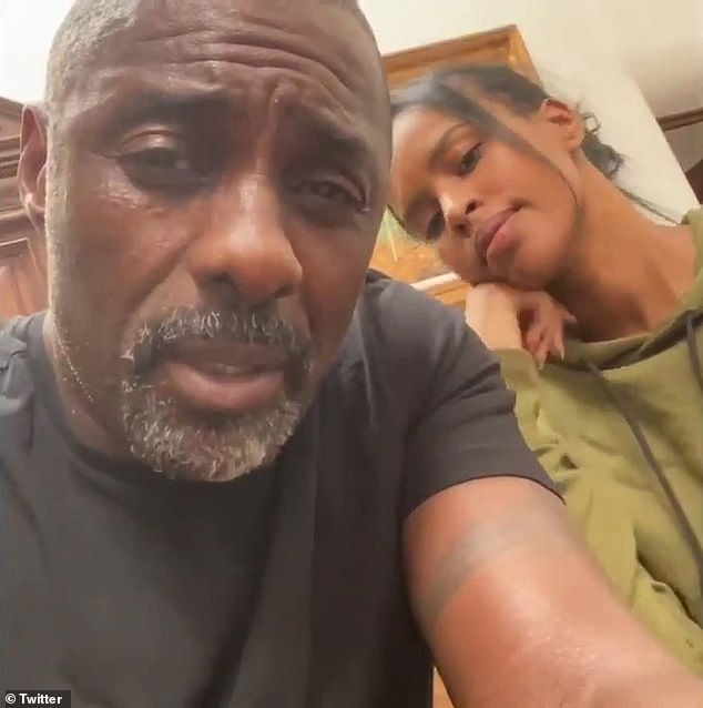 Brave: Days later, Idris Elba revealed he too had contracted the virus and that he and wife Sabrina had gone into self isolation