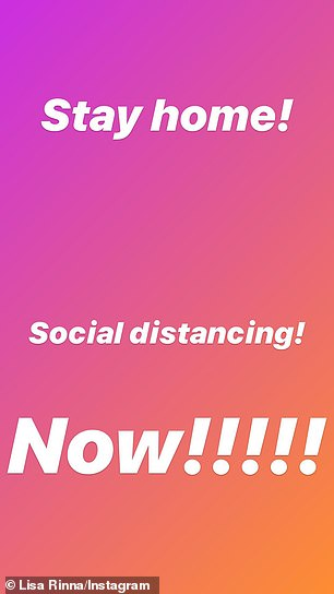 'Stay home! Social distancing! Now!'