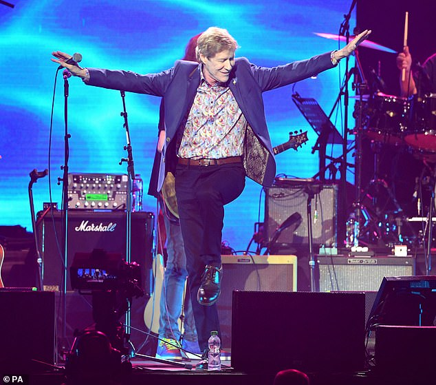 Animated display:Paul Jones was clearly enjoying himself on stage during his performance