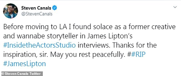 'Thanks for the inspiration, sir': The acting industry flooded social media with tributes