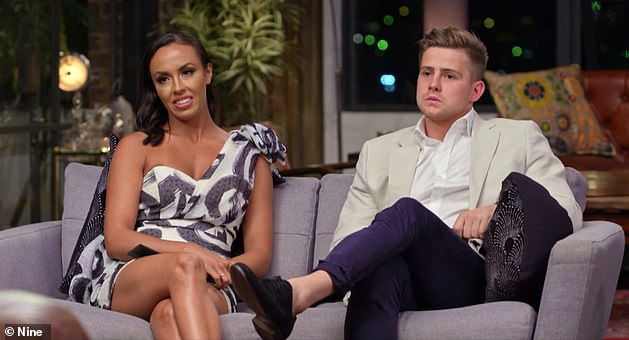 Ouch!Mikey has persistently claimed he and Stacey enjoyed a night together while filming the social experiment all while their TV spouses Natasha Spencer, 26, (left) and Michael Goonan, 29, were completely unaware