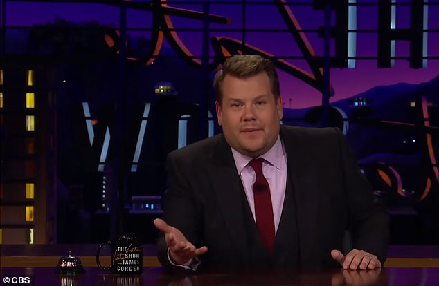 James Corden also announced that he was going to forego having an audience starting next week due to coronavirus concerns
