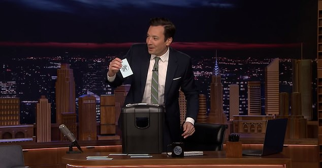 Jimmy Fallon also cracked his jokes on NBC's Tonight show in Los Angeles without an audience