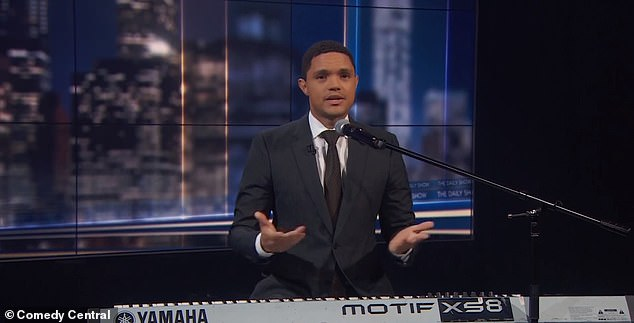Trevor Noah announced on The Daily Show that he was to start taping his program next week without a studio audience