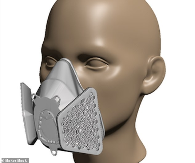 The finished product is reusable and is equivalent of 300 disposable masks over a two month period