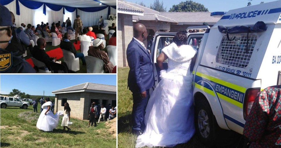 Bride and groom arrested after breaking coronavirus lockdown rules in South Africa