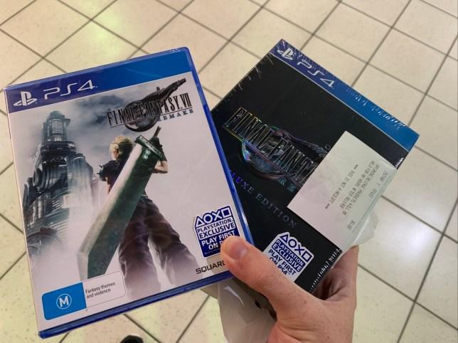Final Fantasy 7 Remake boxed copies